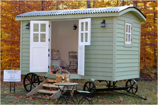 ... 20141206sa Shepherds Hut Wagon Retreat Tiny House Exterior