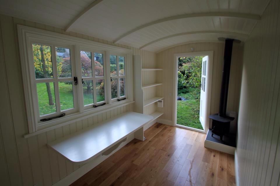 20141206sa shepherds hut wagon retreat tiny house interior example 006 small house society - House interior design for small houses ...