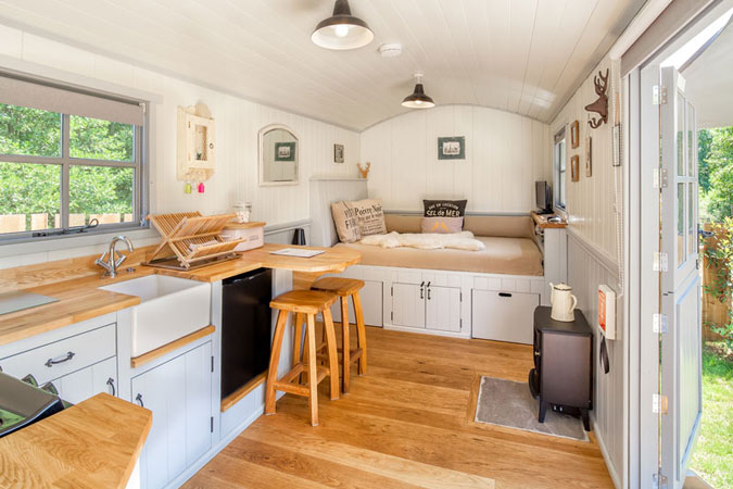 Tiny House Interior shepherd huts as tiny homes | small house society
