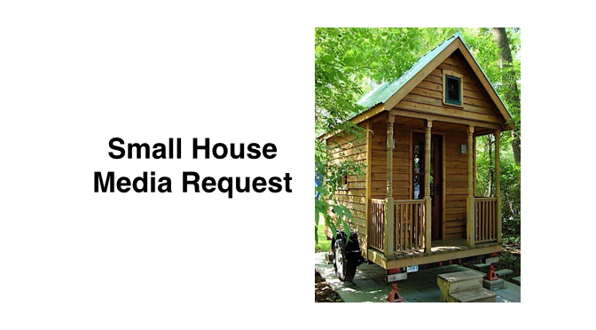 Media Request: RV Magazine Seeks Small Housers